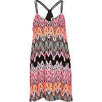 Pink Chelsea Girl zig zag knit mini dress