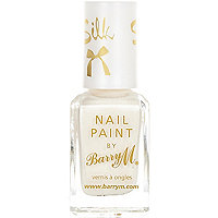 White Barry M silk nail varnish