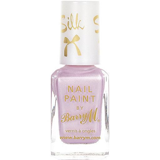 Purple heather Barry M silk nail varnish