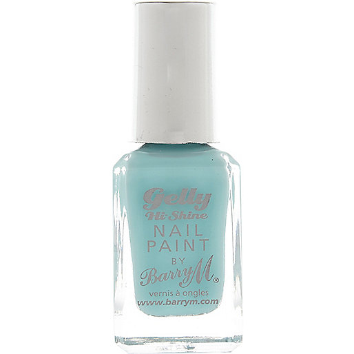 Sugar Apple blue Barry M gelly nail polish