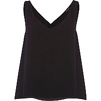 Black wrap back vest