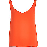 Orange wrap back vest