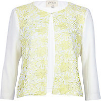 Yellow lace front jacket