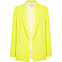 Bright yellow relaxed jacket