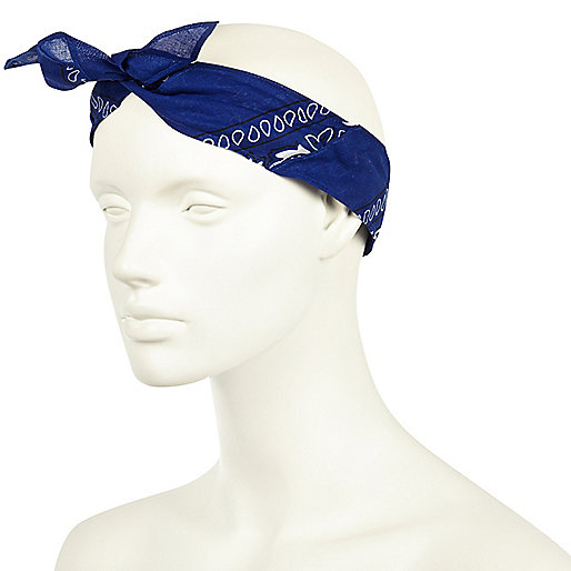 Blue bandana hair band