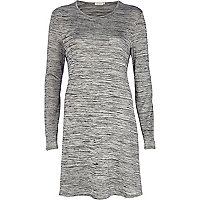 Grey marl textured swing dress