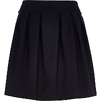 Black box pleat mini skirt