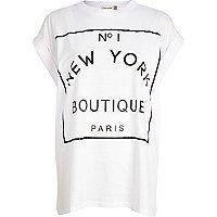 White No 1 New York Boutique Paris t-shirt