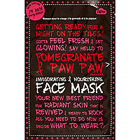 Pomegranate & paw paw face mask