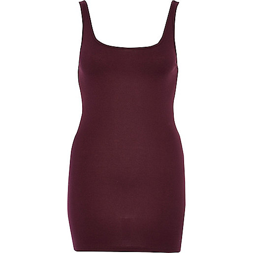 Dark purple scoop neck vest