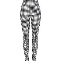 Black dogtooth high waisted leggings