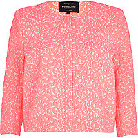Pink animal jacquard print jacket