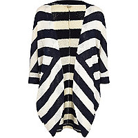 Navy stripe cocoon cardigan