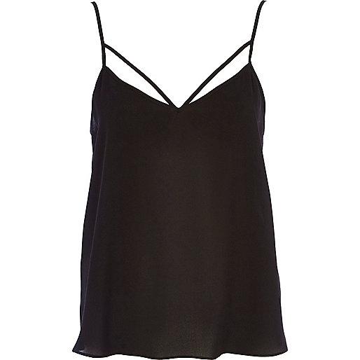 Black strappy cami top
