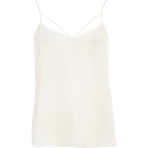 Cream strappy cami top