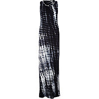 Black tie dye racer back maxi dress