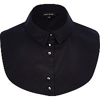Black shirt collar bib