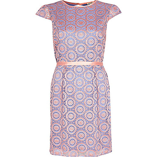 river island pink lace dress