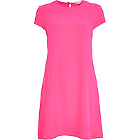 Bright pink swing dress