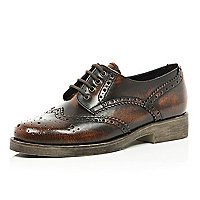 Dark brown burnished brogues