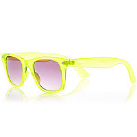 Fluro yellow retro sunglasses