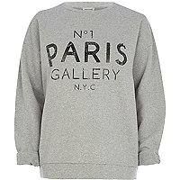 Grey No.1 Paris Gallery print sweatshirt
