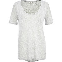 Grey low scoop t-shirt