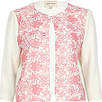 Pink lace front jacket