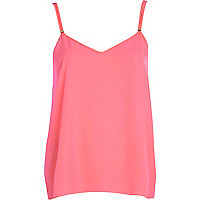 Pink V neck cami top