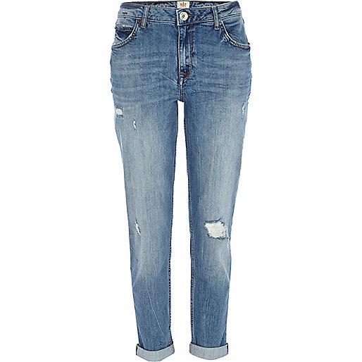 Light wash Ashley slim boyfriend jeans