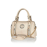 Cream soft bowler bag