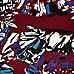 Dark red fern print racer front crop top