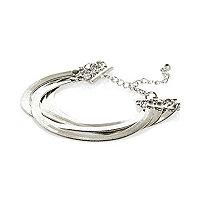 Silver tone slinky bracelet