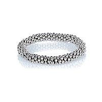 Silver tone bobble ball bracelet
