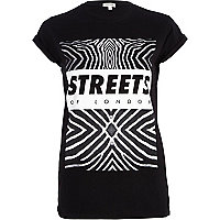 Black Streets of London zebra print t-shirt