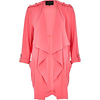 Pink chiffon waterfall jacket