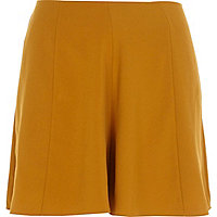 Mustard yellow smart shorts