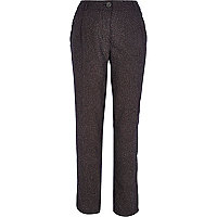 Grey smart straight trousers