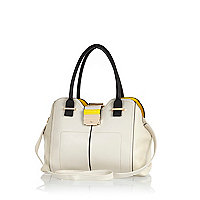 Cream contrast gusset frame bag