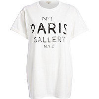 White No.1 Paris gallery NYC print t-shirt