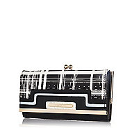 Black and white check purse