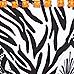 Black zebra print embellished bikini bottoms