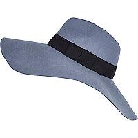Light blue oversized fedora hat