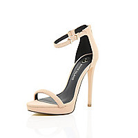 Light pink platform barely there sandals