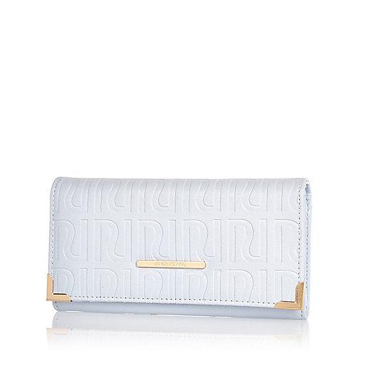 Light blue RI embossed purse