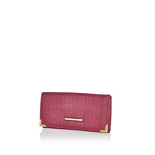 Dark red RI embossed purse