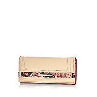 Pink snake trim purse