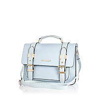 Light blue satchel backpack