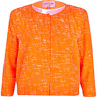 Orange textured boxy jacket