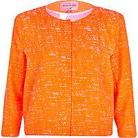 Orange textured boxy jacket